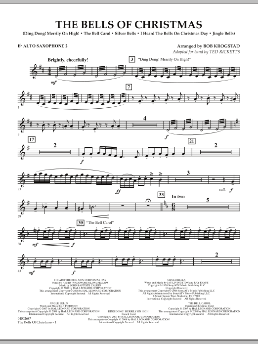 The Bells Of Christmas - Eb Alto Saxophone 2 (Concert Band)