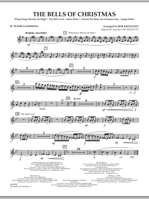 The Bells Of Christmas - Bb Tenor Saxophone (Concert Band)