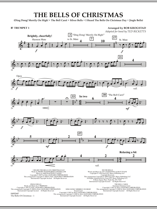 The Bells Of Christmas - Bb Trumpet 1 (Concert Band)