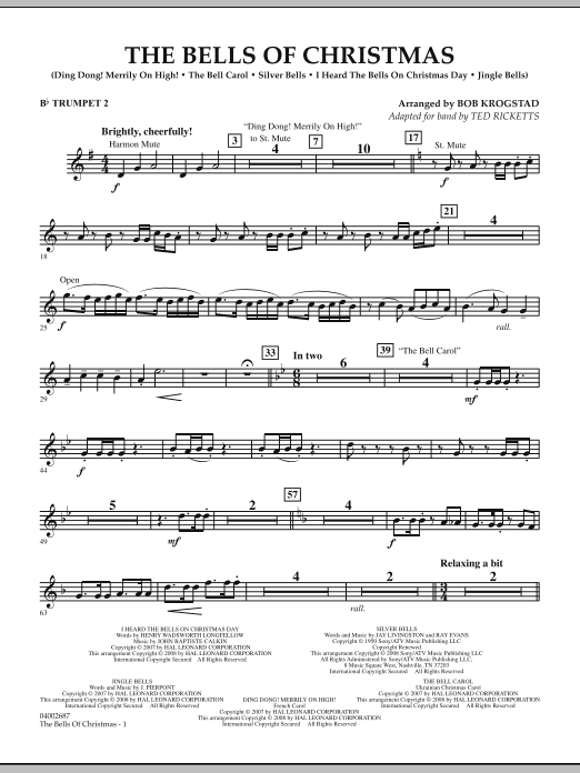 The Bells Of Christmas - Bb Trumpet 2 (Concert Band)
