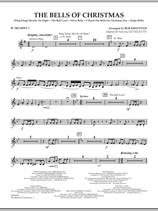 The Bells Of Christmas - Bb Trumpet 3 (Concert Band)