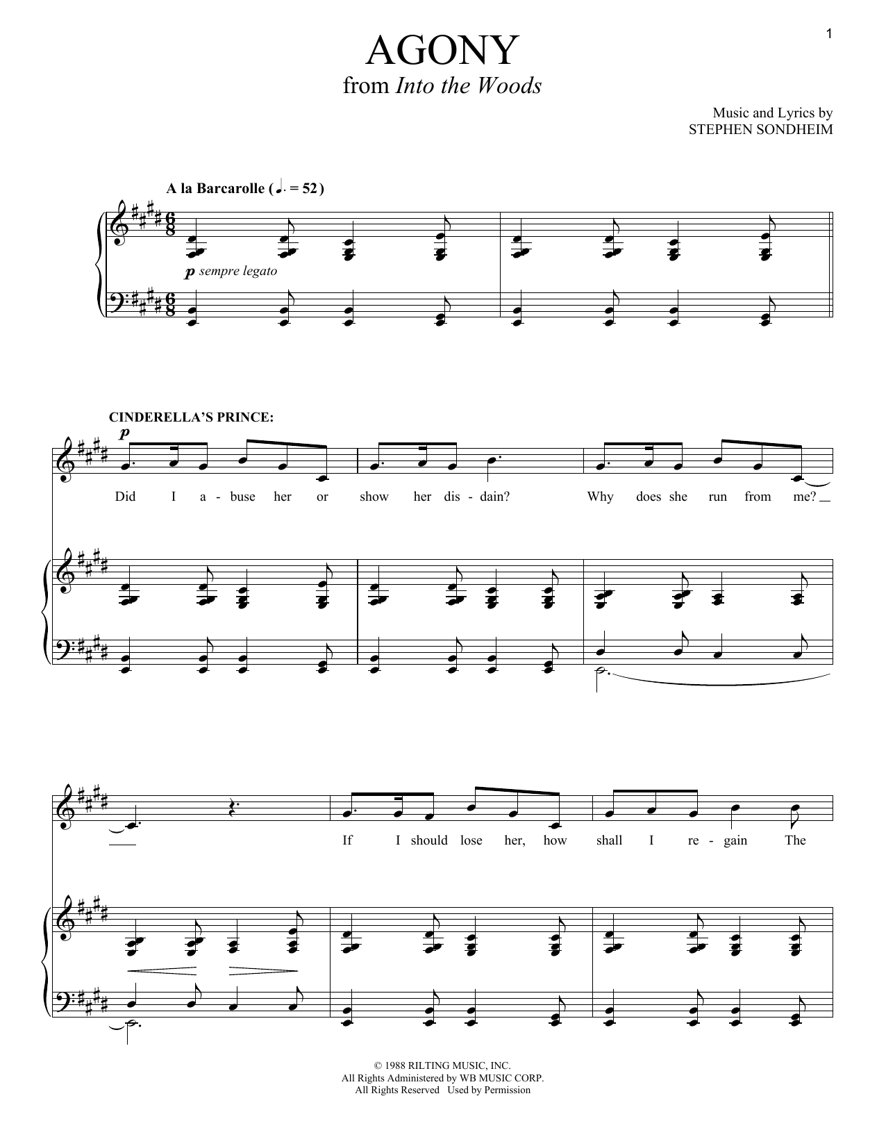 Agony Sheet Music