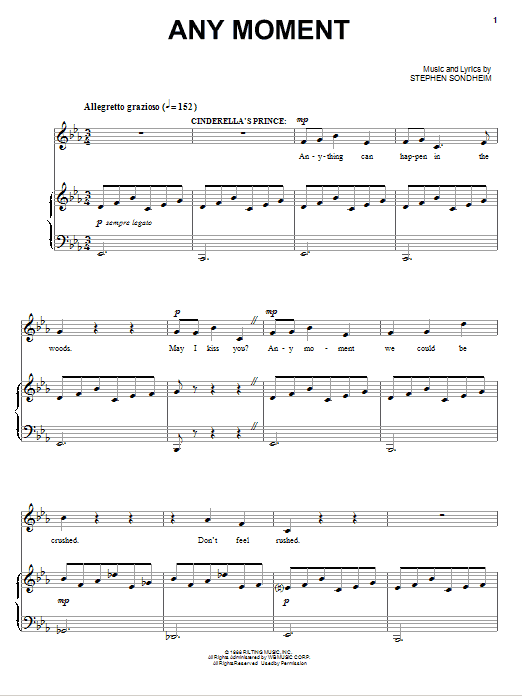 Any Moment - Part I Sheet Music