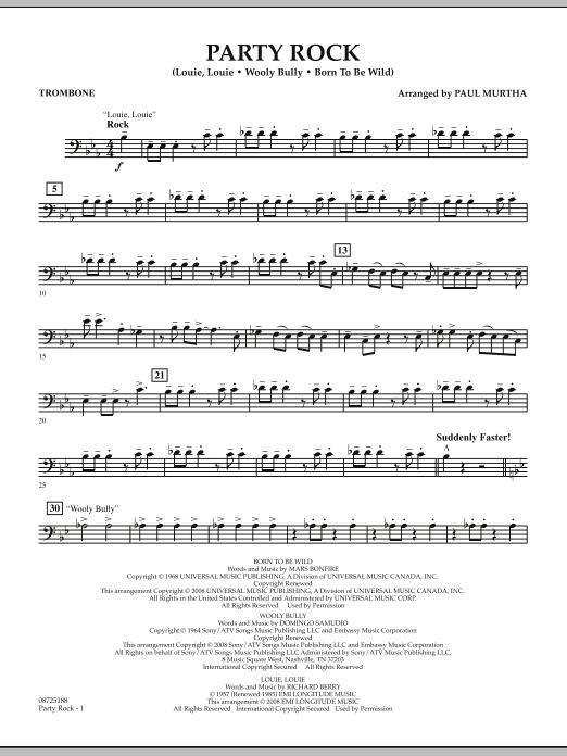 Party Rock - Trombone (Concert Band)