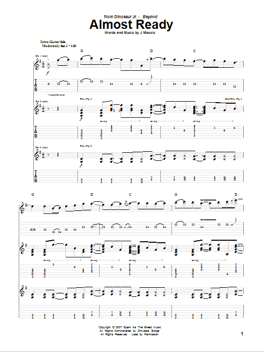 Almost Ready Sheet Music