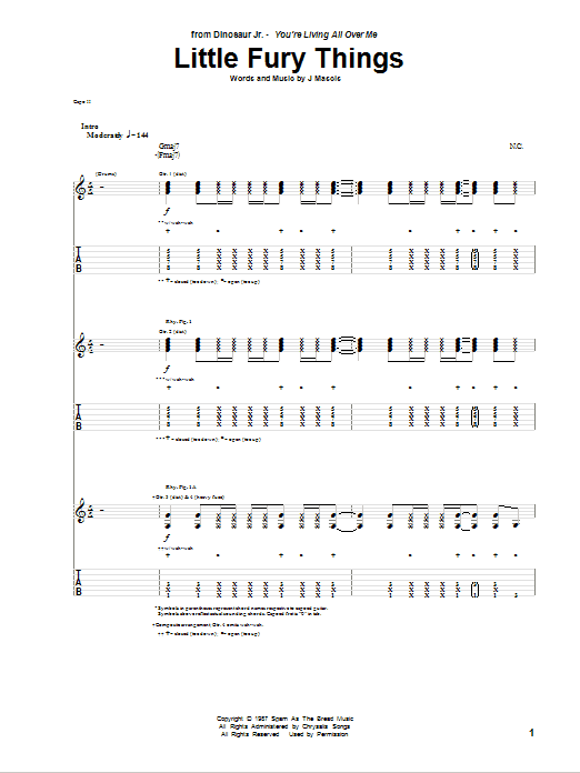 Little Fury Things Sheet Music