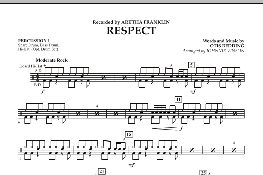 Respect - Percussion 1 (Concert Band)