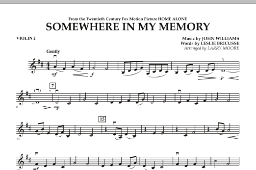 Somewhere In My Memory (from Home Alone) - Violin 2 (Orchestra)
