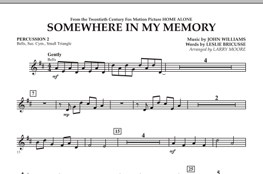 Somewhere In My Memory (from Home Alone) - Percussion 2 (Orchestra)