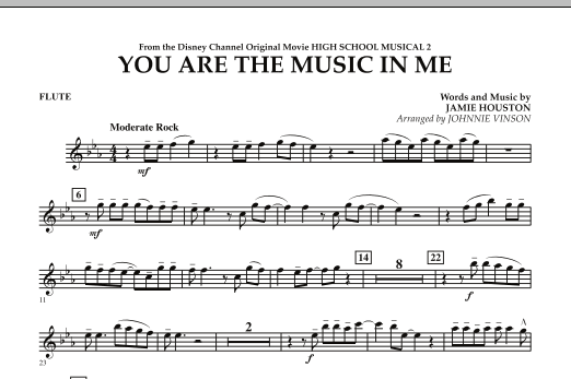 You Are The Music In Me (from High School Musical 2) - Flute (Concert Band)
