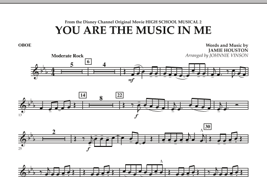 You Are The Music In Me (from High School Musical 2) - Oboe (Concert Band)