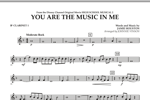 You Are The Music In Me (from High School Musical 2) - Bb Clarinet 1 (Concert Band)