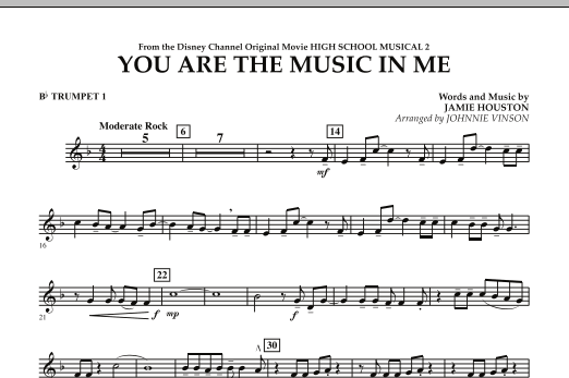 You Are The Music In Me (from High School Musical 2) - Bb Trumpet 1 (Concert Band)