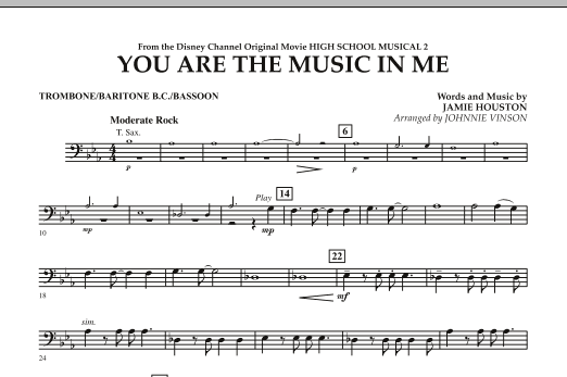 You Are The Music In Me (from High School Musical 2) - Trombone/Baritone B.C./Bassoon (Concert Band)