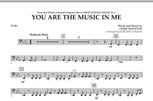 You Are The Music In Me (from High School Musical 2) - Tuba (Concert Band)