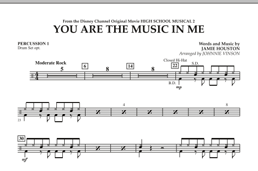 You Are The Music In Me (from High School Musical 2) - Percussion 1 (Concert Band)