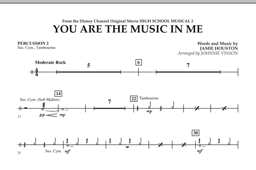 You Are The Music In Me (from High School Musical 2) - Percussion 2 (Concert Band)