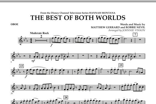 The Best Of Both Worlds (Theme from Hannah Montana) - Oboe (Concert Band)