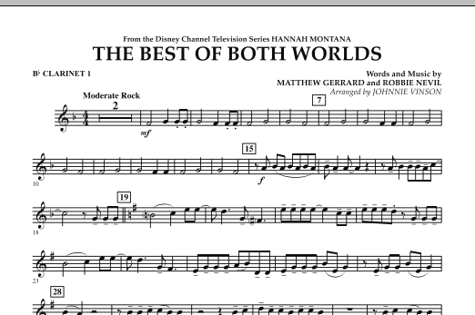 The Best Of Both Worlds (Theme from Hannah Montana) - Bb Clarinet 1 (Concert Band)