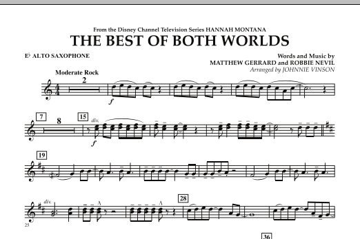 The Best Of Both Worlds (Theme from Hannah Montana) - Eb Alto Saxophone (Concert Band)