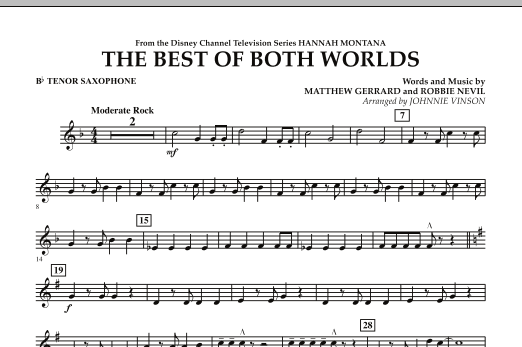 The Best Of Both Worlds (Theme from Hannah Montana) - Bb Tenor Saxophone (Concert Band)