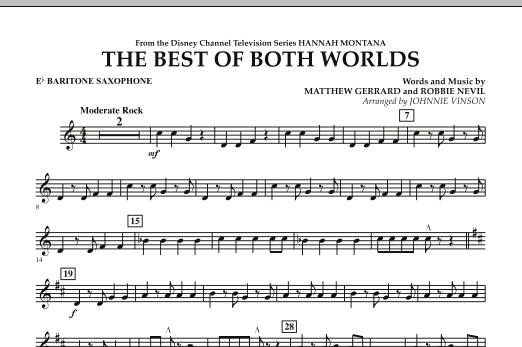 The Best Of Both Worlds (Theme from Hannah Montana) - Eb Baritone Saxophone (Concert Band)