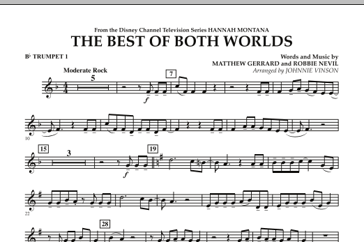 The Best Of Both Worlds (Theme from Hannah Montana) - Bb Trumpet 1 (Concert Band)