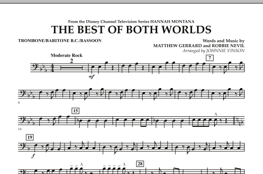 The Best Of Both Worlds (Theme from Hannah Montana) - Trombone/Baritone B.C./Bassoon (Concert Band)