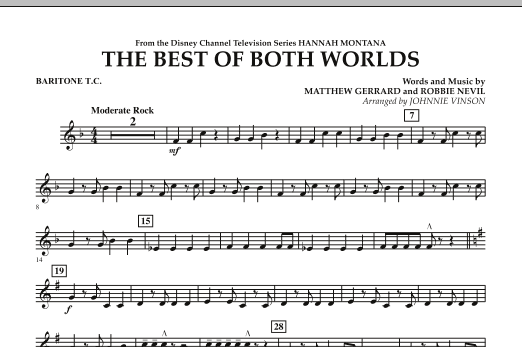 The Best Of Both Worlds (Theme from Hannah Montana) - Baritone T.C. (Concert Band)
