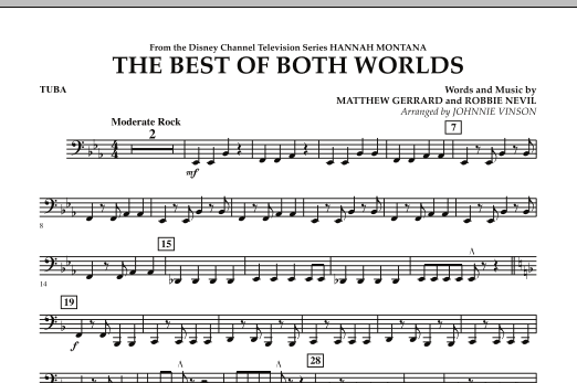 The Best Of Both Worlds (Theme from Hannah Montana) - Tuba (Concert Band)