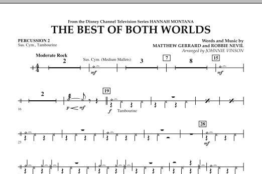 The Best Of Both Worlds (Theme from Hannah Montana) - Percussion 2 (Concert Band)