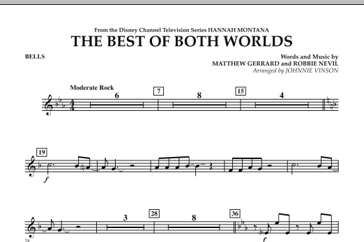 The Best Of Both Worlds (Theme from Hannah Montana) - Bells (Concert Band)