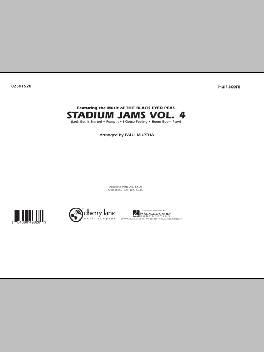 Stadium Jams: Vol. 4 (COMPLETE) sheet music for marching band by Paul Murtha. Score Image Preview.