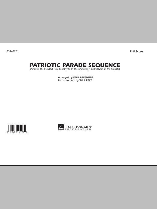 Patriotic Parade Sequence (COMPLETE) sheet music for marching band by Paul Lavender and Will Rapp. Score Image Preview.