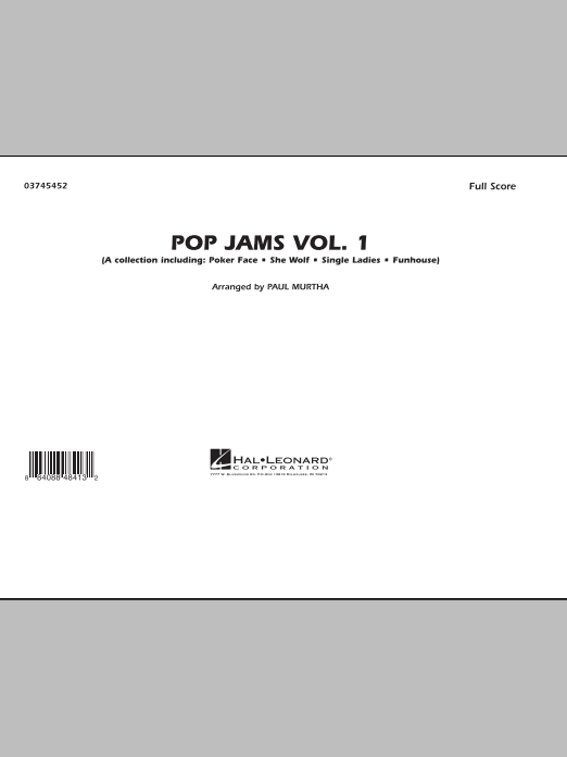 Pop Jams: Vol. 1 (COMPLETE) sheet music for marching band by Paul Murtha. Score Image Preview.