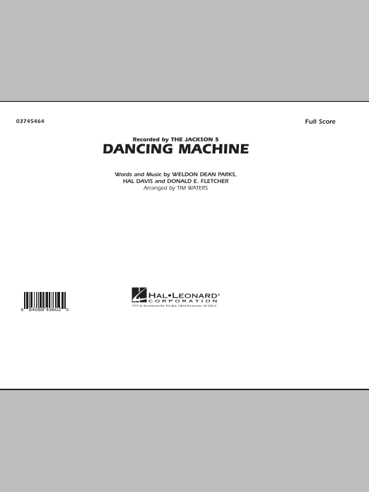 Dancing Machine - Full Score (Marching Band)
