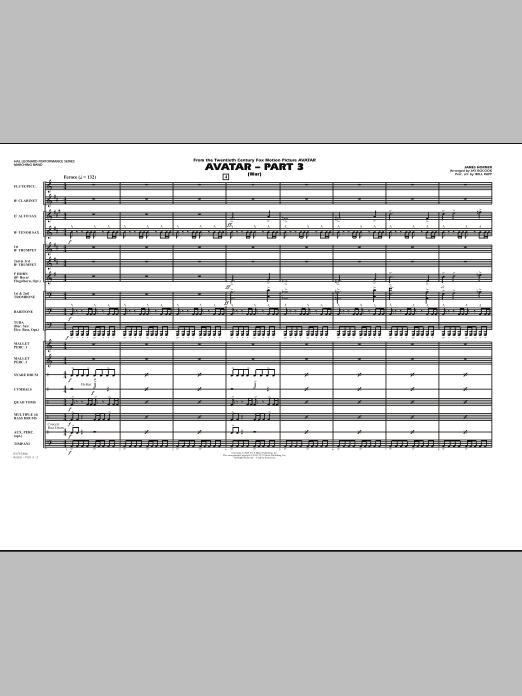 Avatar: Part 3 (War) - Full Score (Marching Band)