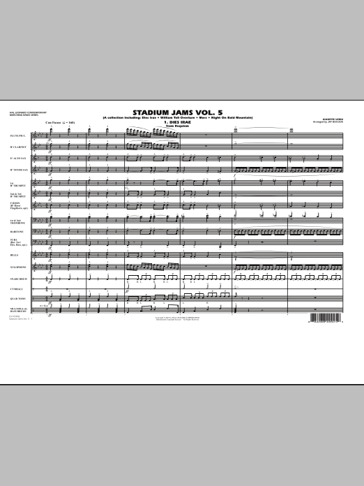 Stadium Jams: Vol. 5 (COMPLETE) sheet music for marching band by Jay Bocook. Score Image Preview.