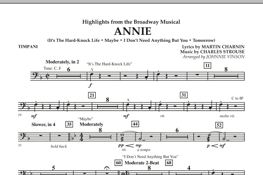 Highlights from Annie - Timpani (Concert Band)