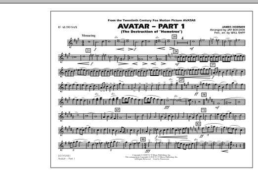 Avatar: Part 1 - Eb Alto Sax (Marching Band)
