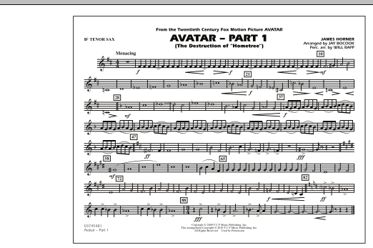 Avatar: Part 1 - Bb Tenor Sax (Marching Band)