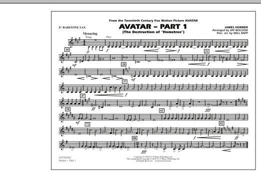 Avatar: Part 1 - Eb Baritone Sax (Marching Band)