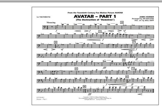 Avatar: Part 1 - 1st Trombone (Marching Band)