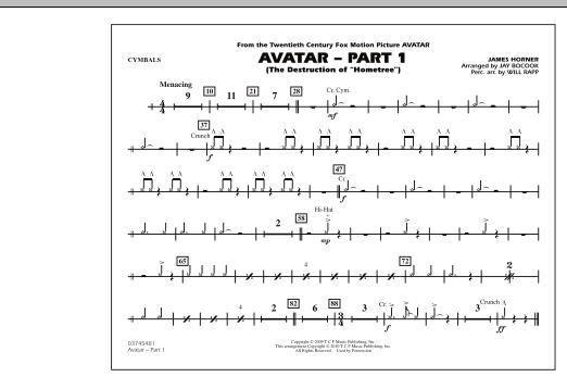 Avatar: Part 1 - Cymbals (Marching Band)