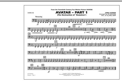 Avatar: Part 1 - Timpani (Marching Band)