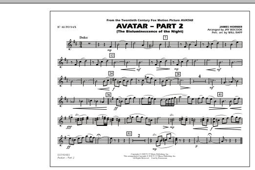 Avatar: Part 2 - Eb Alto Sax (Marching Band)
