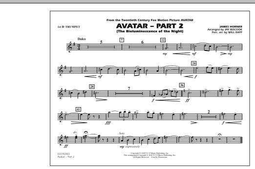 Avatar: Part 2 - 1st Bb Trumpet (Marching Band)