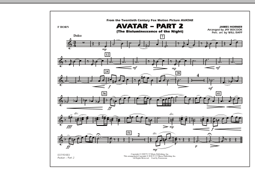 Avatar: Part 2 - F Horn (Marching Band)