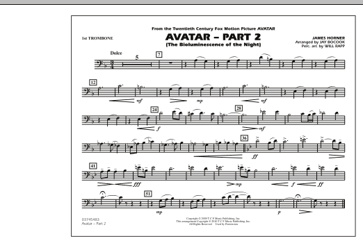 Avatar: Part 2 - 1st Trombone (Marching Band)