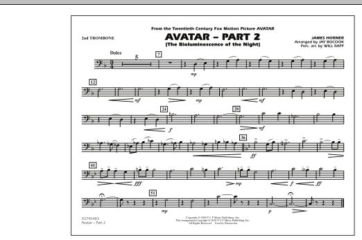Avatar: Part 2 - 2nd Trombone (Marching Band)